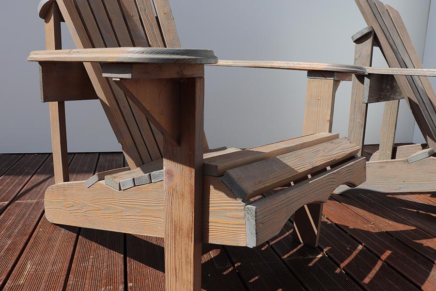 poltrona da giardino americana in legno modello anastasia realizzata da linea legno vista dettaglio 1