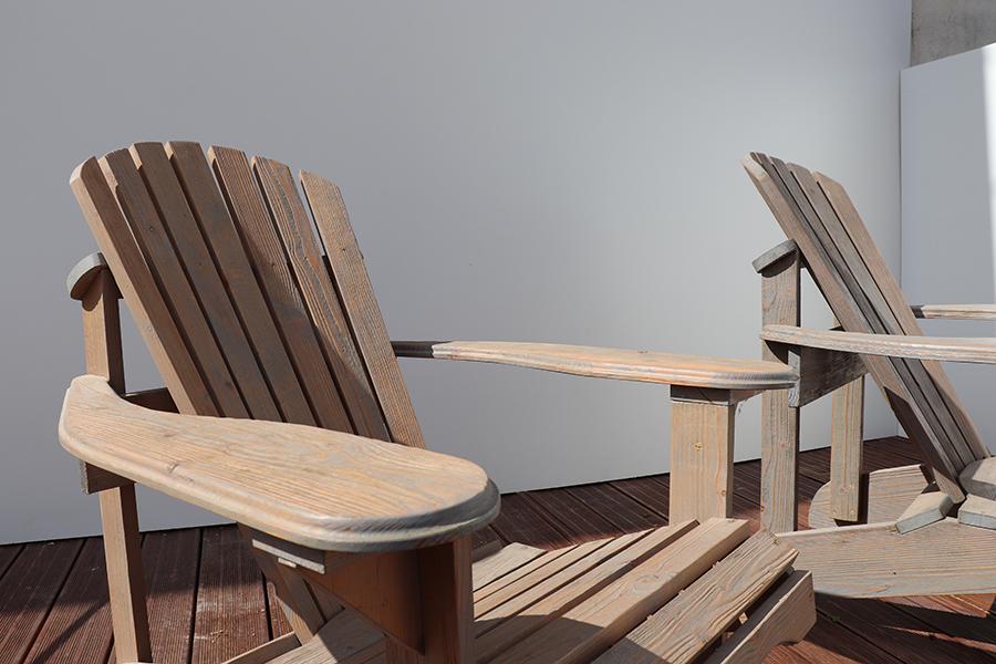poltrona da giardino americana in legno modello anastasia realizzata da linea legno vista dettaglio 2