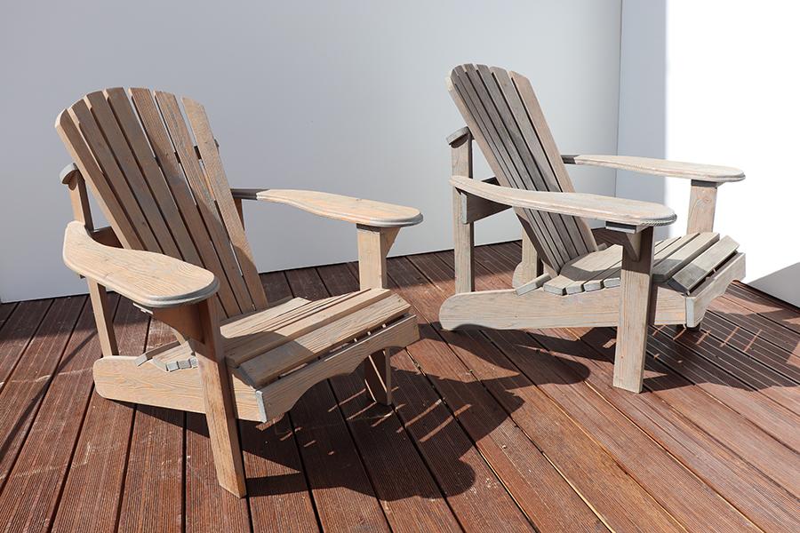 poltrona da giardino americana in legno modello anastasia realizzata da linea legno vista da laterale 2
