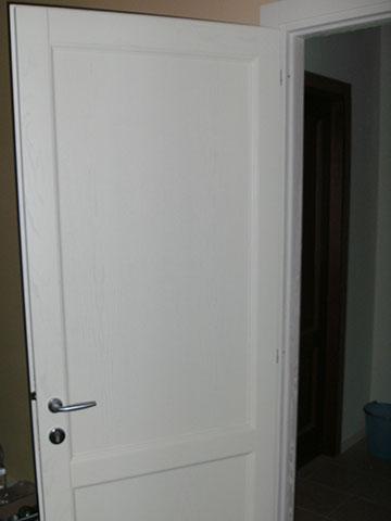 parta bianca in legno massello su misura