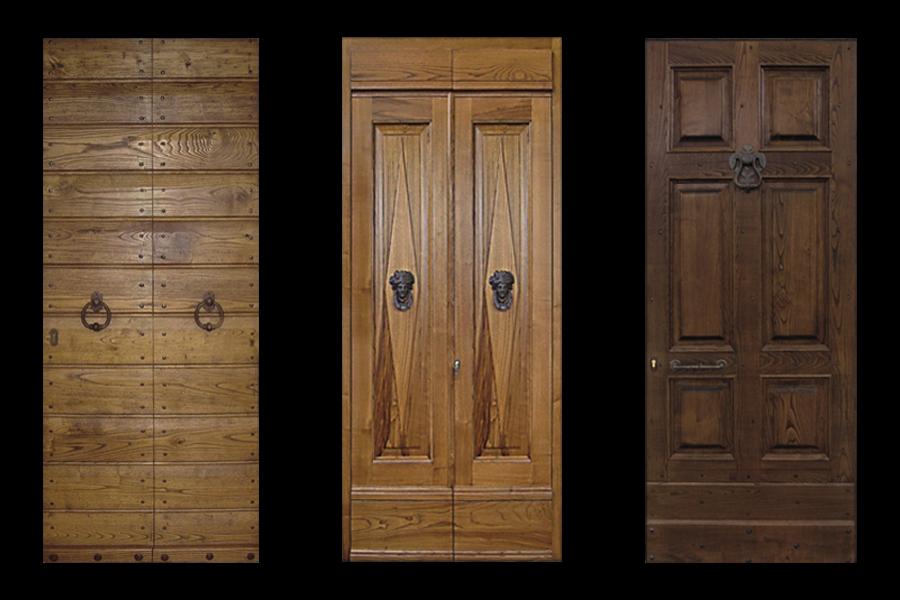 portoni da esterno in legno massello realizzati da linea legno
